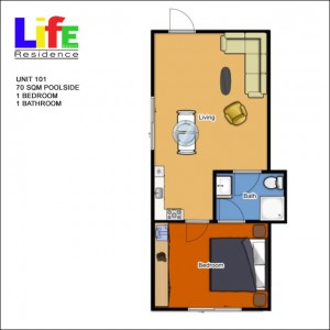 1 Bedroom 70sqm
